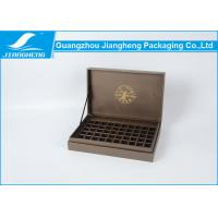 Buy cheap Chocolate Color Texture Paper Tea Gift Boxes Divided Inner Rectangle Shape from wholesalers