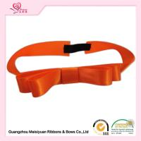 Buy cheap Orange Color Elastic Ribbon Bows with stretch loops for gift boxes / Cards from wholesalers