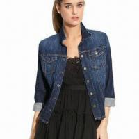 Buy cheap Fashionable ladies denim jacket, eco-friendly and breathable from wholesalers