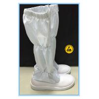 Buy cheap Good quality white color pvc leather upper SPU outsole ESD boots in China from wholesalers