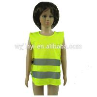 Buy cheap kids clothes 2015 with reflective stripe, safety vest with black binding from wholesalers