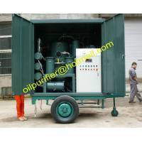Buy cheap Mobile Transformer Oil Purifier Machine, Trailer Mounted Insulation Oil Filter Equipment from wholesalers