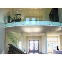 Buy cheap Tempered tinted glass railing with stainless steel standoff / patch fitting railing product