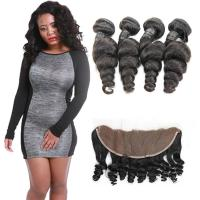 Buy cheap Real Healthy 100 Loose Wave Hair Extensions 4 Bundles No Synthetic Hair from wholesalers