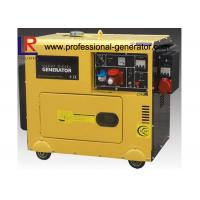 Buy cheap Single Cylinder Soundproof 6kVA Diesel Powered Generator With 3 Phase Direct Injection from wholesalers