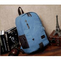 Buy cheap Outdoor canvas backpack unisex travel backpack bag with laptop compartment for high school students from wholesalers