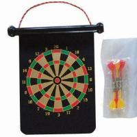 Buy cheap Roll-up NdFeB Magnetic Dart Board, 17 Inches, with Color Box Packing, Available in Various Shapes from wholesalers