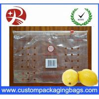China 100 % PE Ziplock Fruit Packaging Bags With Holes For Lemon on sale