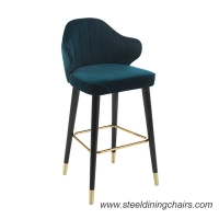 Buy cheap The Nordic Style Bar Stool Leather Upholstered Bar Counter Chair Steel Black Frame With Gold Feet 0167 from wholesalers
