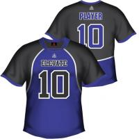 Buy cheap Customized Gray / Blue Sublimated Soccer Jersey, Football Team Apparel from wholesalers