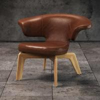 Buy cheap Beech Wood Frame Single Pu Leather Leisure Chair , Munich Chair With Backrest product