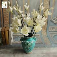 Buy cheap UVG FMA58 Wedding reception ideas real touch PU magnolia flower pink fake flowers for table decoration from wholesalers