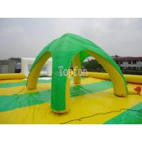 Buy cheap Colorful Inflatable Event Wedding Green Beach House Tent 0.6mm PVC tarpaulin from wholesalers