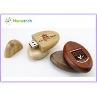 Buy cheap Pocket Environmental Oval 2G , 4G , 8G Wood USB Flash Drives for Windows 2000 from wholesalers