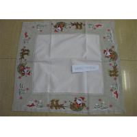 Polyester Fabric Linen Hemstitch Tablecloth Durable For Home And Hotel
