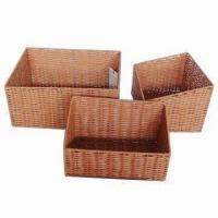 Buy cheap Slopping PP storage baskets, set of 3 from wholesalers