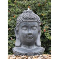 Decorative Buddha Statue Water Fountain In Fiberglass / Resin Material