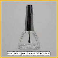 Buy cheap Triangle Transparent Nail Polish Containers , 12ml Silk Screen Bottle from wholesalers
