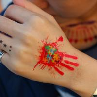 Buy cheap custom gold foil tattoo sticker/gold temporary tattoos from wholesalers