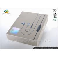 Brown Color Electronics Shipping Box , Printed Packaging Boxes For Headset Box