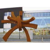 Buy cheap Modern Large Corten Steel Sculpture For Public Garden Decoration 300cm Height from wholesalers