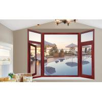 Buy cheap Painted Fixed Aluminium Casement Glass Windows With Wood Grain Color from wholesalers