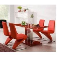 Buy cheap Modern MDF  Accepted Small Order tempered glass topped dining tables from wholesalers
