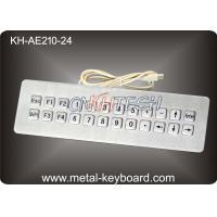 USB Port Dynamic Waterproof Industrial Metal Keyboard with 24 Keys