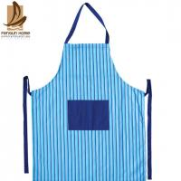 Buy cheap Fashion Lady Custom Strip Printed Sexy Cotton Kitchen Apron Ruffle from wholesalers