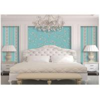 American Style Washable Vinyl Wallpaper For Bedroom Walls , Flower Pattern