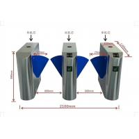Buy cheap Stainless Steel ESD Turnstile Economic Flap Gate With Tester ID Reader Components from wholesalers