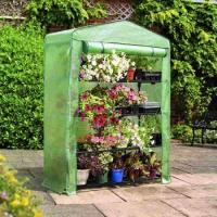 Buy cheap PE Mesh Cover Walk In Greenhouse / Customized Small Garden House No Tools Needls 145*143*195CM 140gsm lined PE from wholesalers