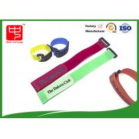 Buy cheap Printing hook & loop fastener / custom logo hook and loop cinching straps from wholesalers