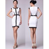 Buy cheap Adult Womens Career Dresses Of 100% Cotton , Sleeveless  White Midi Dress Bodycon from wholesalers
