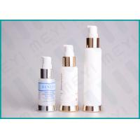 Buy cheap Silkscreen Printing PP Cosmetic Pump Bottle Airless Dispenser Bottles With SAN Cap from wholesalers
