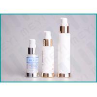 Silkscreen Printing PP Cosmetic Pump BottleAirless Dispenser Bottles With SAN Cap