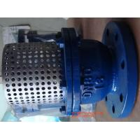 Buy cheap Cast Iron Flange Strainer Foot Valve 8'' With Stainless Steel Screen from wholesalers