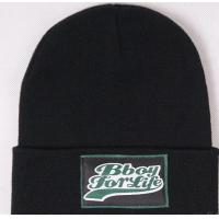 Buy cheap custom acrylic beanies with cuff woven label slouch custom made beanie from wholesalers
