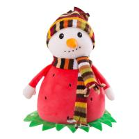 Buy cheap Washable Surface Red Soft Plush Toys Snowman Stuffed With PP Cotton MR-200201 from wholesalers