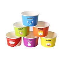 Buy cheap Refrigerable ODM 5.5Oz Compostable Paper Cups With Lids And Spoons from wholesalers