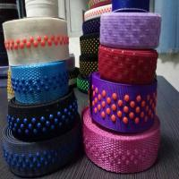 Buy cheap Custom 3 wave lines non slip custom elastic waistband non slip elastic silicone webbing from wholesalers
