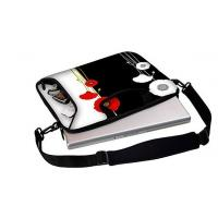 Buy cheap 15.6 inch Full Color Printing waterproof neoprene laptop sleeve with handle and shoulder strap from wholesalers