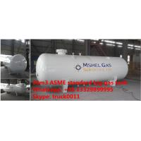 Buy cheap Factory direct sale best price ASME standard 20,000L surface lpg gas storage tank, 20m3 ASME stamped propane gas tank from wholesalers