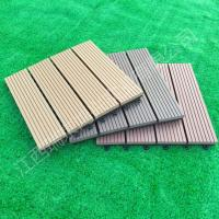 Buy cheap 2017 wood plastic composite Solid DIY Decking flooring 300*300mm for interior/exterior home decor China Manufacture from wholesalers