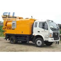 Buy cheap Easy Moving Mobile Trailer Mounted Concrete Pump With Double Shaft Mixer from wholesalers