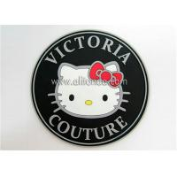 Buy cheap Custom logo label rubber tags pvc iron on patch for hat clothing bag from wholesalers