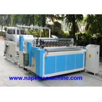 Buy cheap Perforated Paper Cutting Jumbo Roll Slitting Machine , Toilet Paper Rewinding Machine from wholesalers
