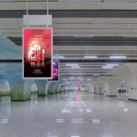Buy cheap Business LCD Digital Signage Ceiling Mounted LCD Digital Display Double Sidede Hanging Advertising Player for Shop from wholesalers