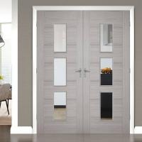 Buy cheap Front Main Gate Solid Wood Entry Doors , Solid Wood Interior Doors With Glass from wholesalers