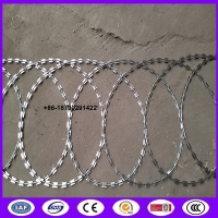 Buy cheap 450mm coil diameter Razor wire flat wrap coils as a clapped into a flat panel formation. from wholesalers